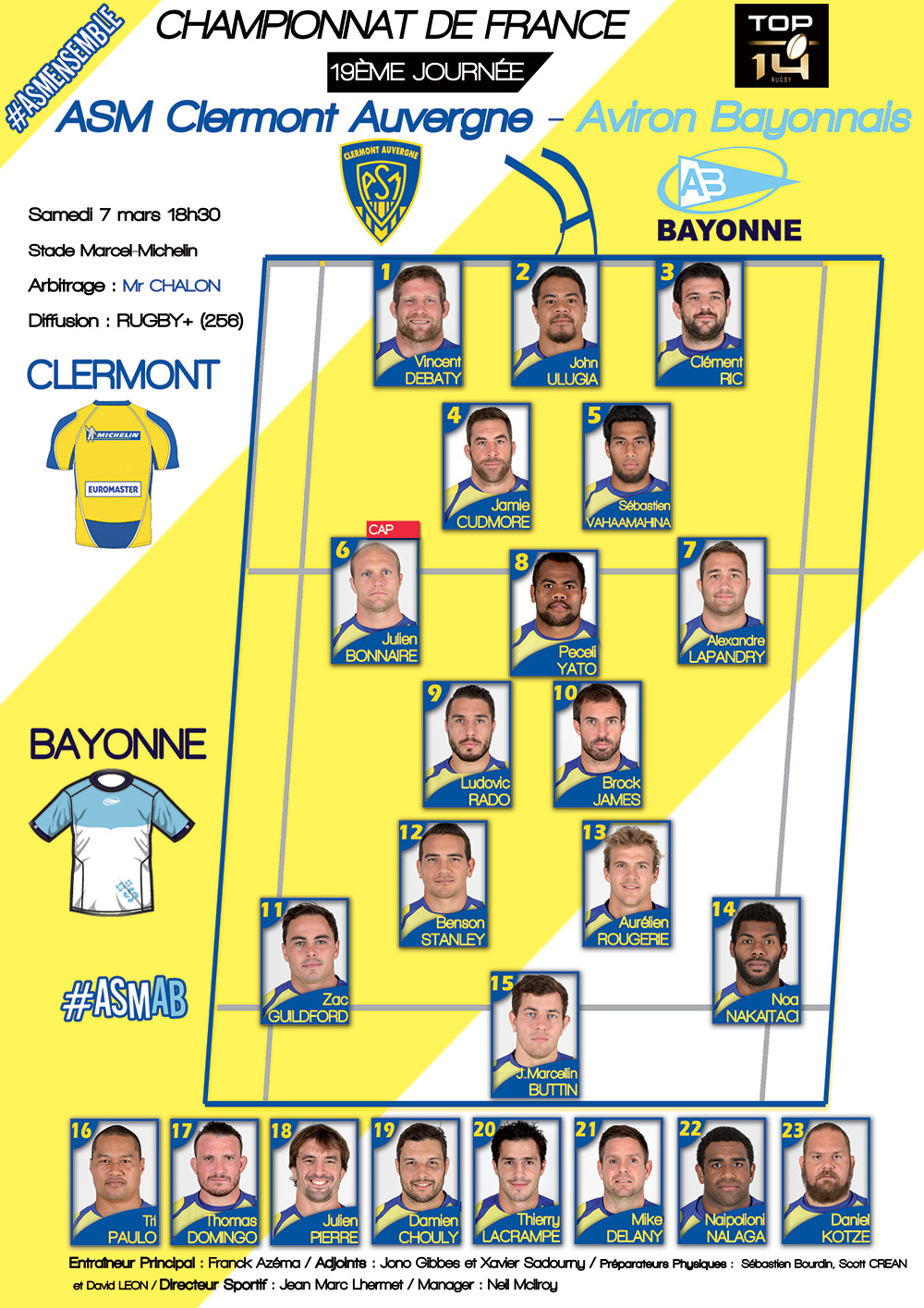 rugby clermont bayonne