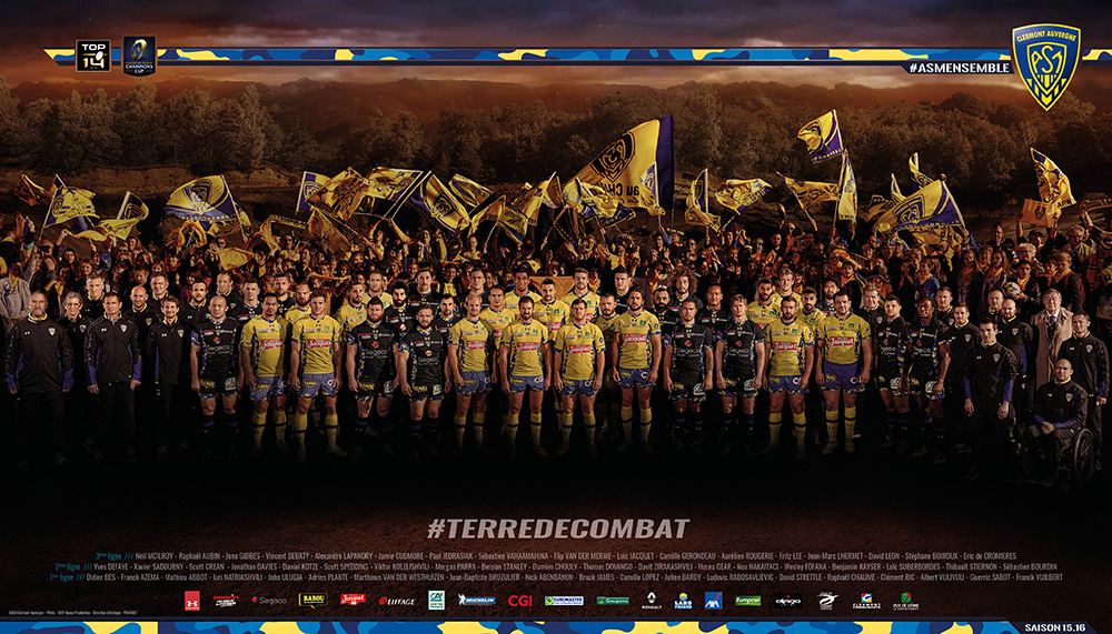 le poster officiel de la saison 2015 2016 est disponible asm rugby. Black Bedroom Furniture Sets. Home Design Ideas