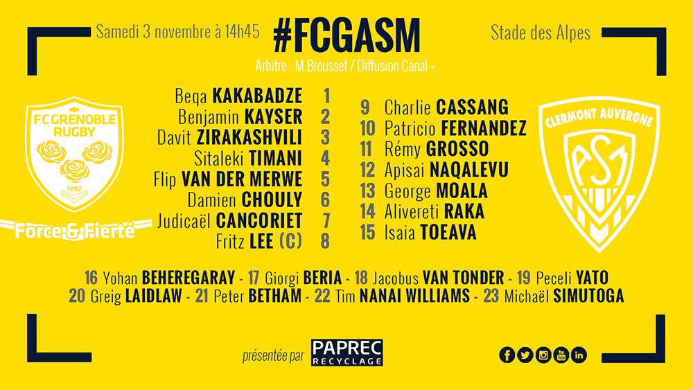 Grenoble - ASM Clermont 181102-compo-2